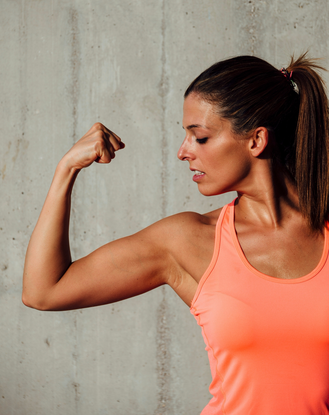 Woman and Muscle