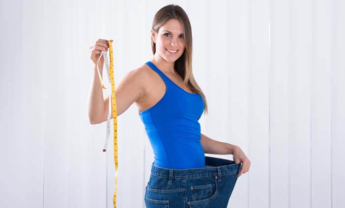 Female in over sized jeans
