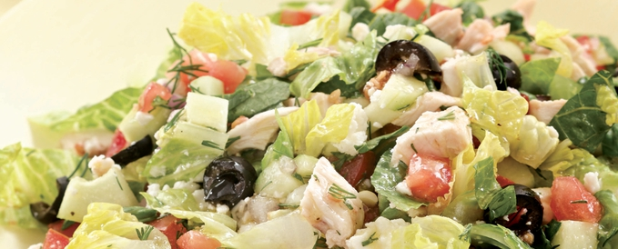 chopped-greek-salad-with-garlic-tomato-toasts